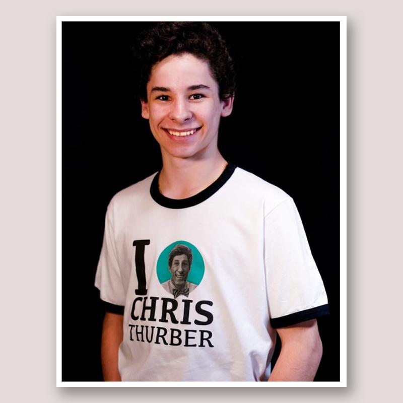 """I [orbit] Chris Thurber"" T-Shirt"