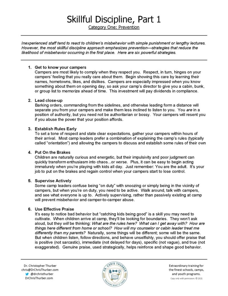 Skillful Discipline Part 1 Prevention